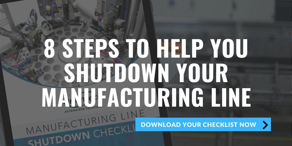 Checklist to help before shuting down the production line